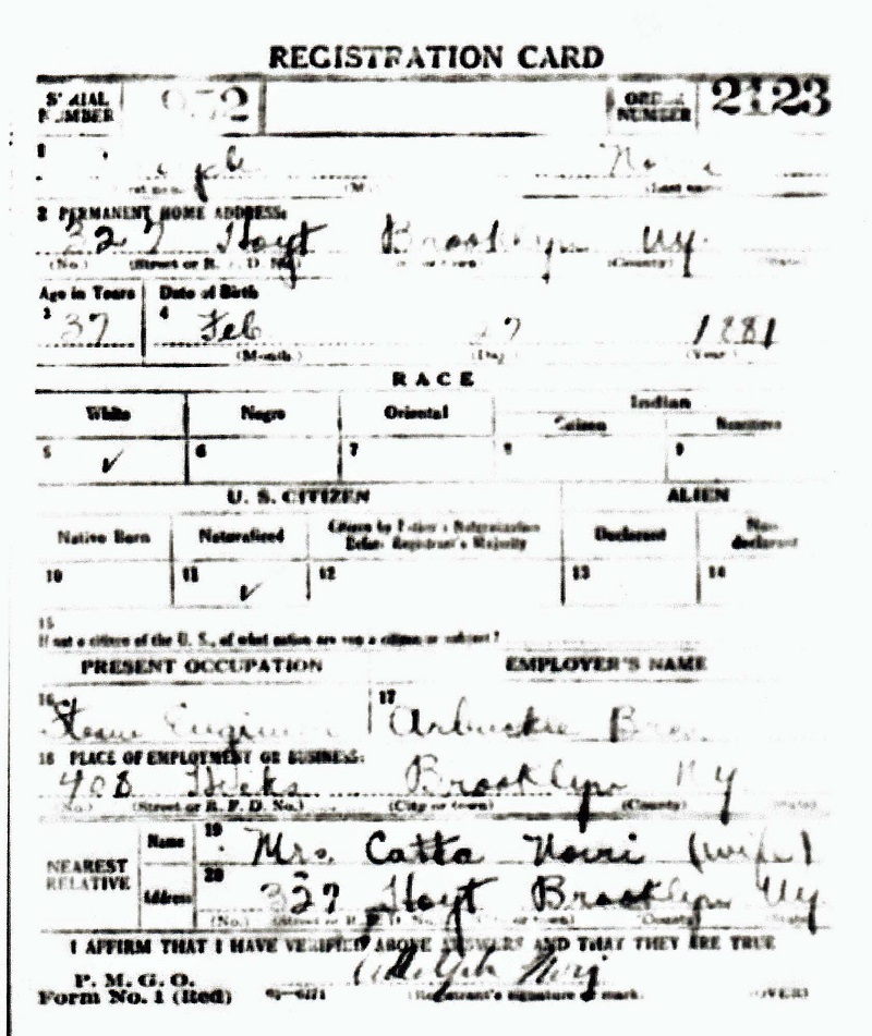 Adolph Nori Military Records
