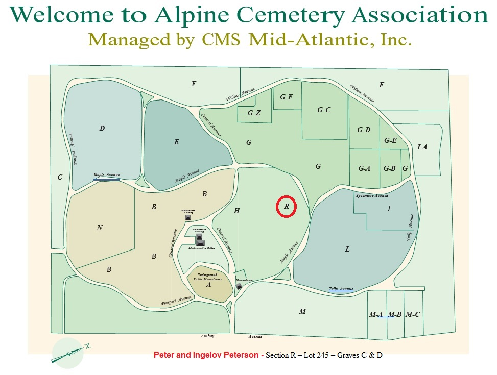 Alpine Cemetery Map