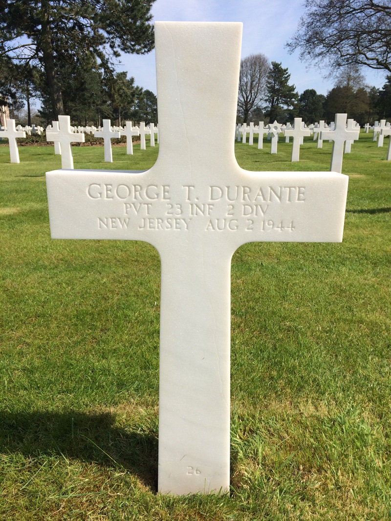 George Durante in American Normandy Cemetery