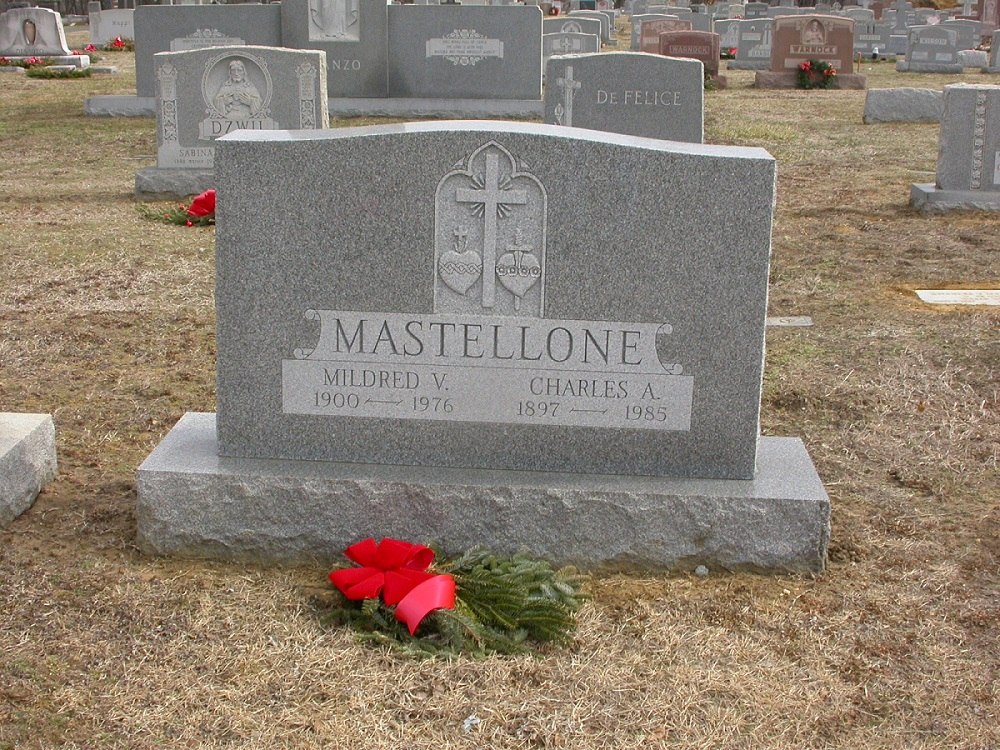 Charles, Mildred and Arnold Mastellone Grave at St. Joseph's Cemetery in Keyport, NJ