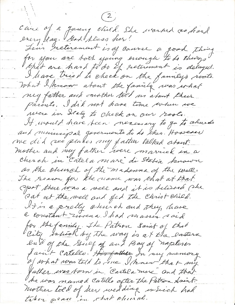 Frank LaMura's Letter Page 2