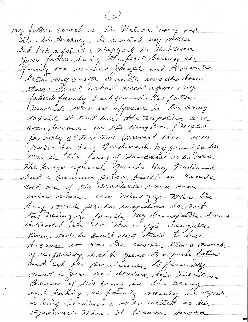 Frank LaMura's Letter Page 3