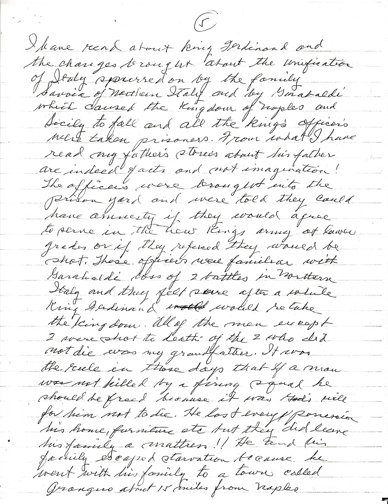 Frank LaMura's Letter Page 5