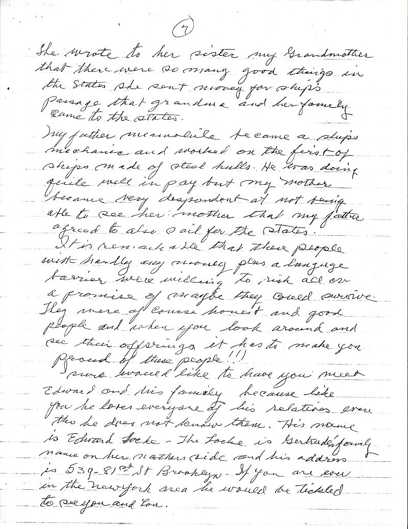 Frank LaMura's Letter Page 7