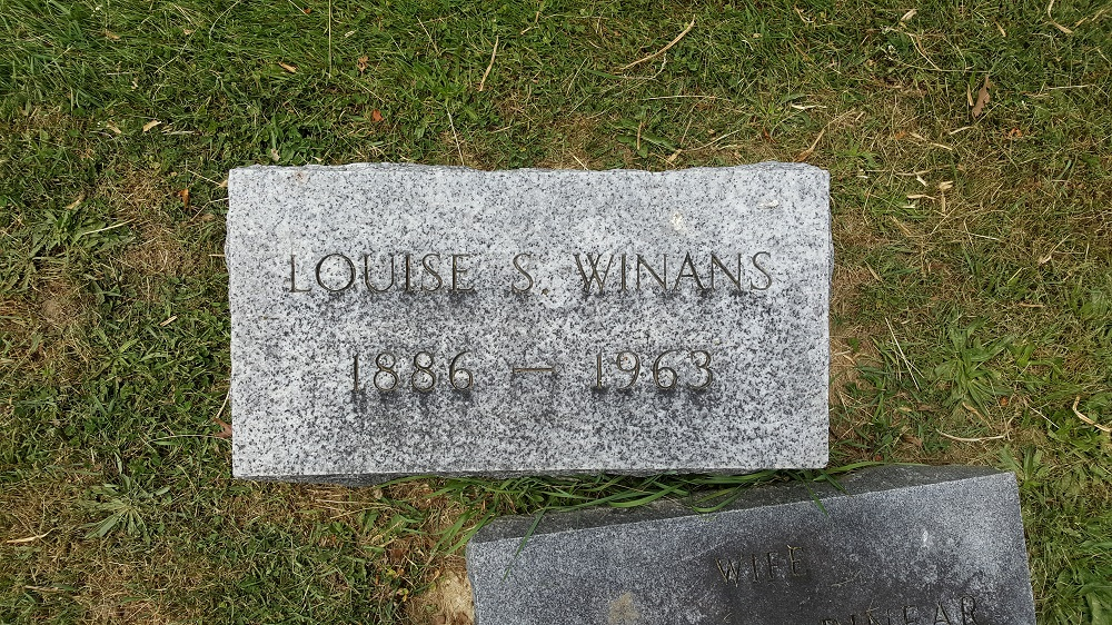 Winans Family Headstone and Markers